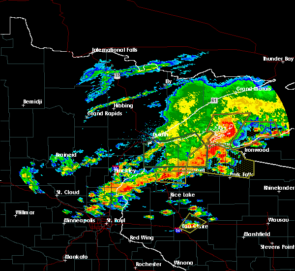 Radar Image for Severe Thunderstorms near Little Round Lake, WI at 6/17/2018 4:17 PM CDT