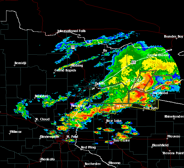Radar Image for Severe Thunderstorms near Little Round Lake, WI at 6/17/2018 4:35 PM CDT