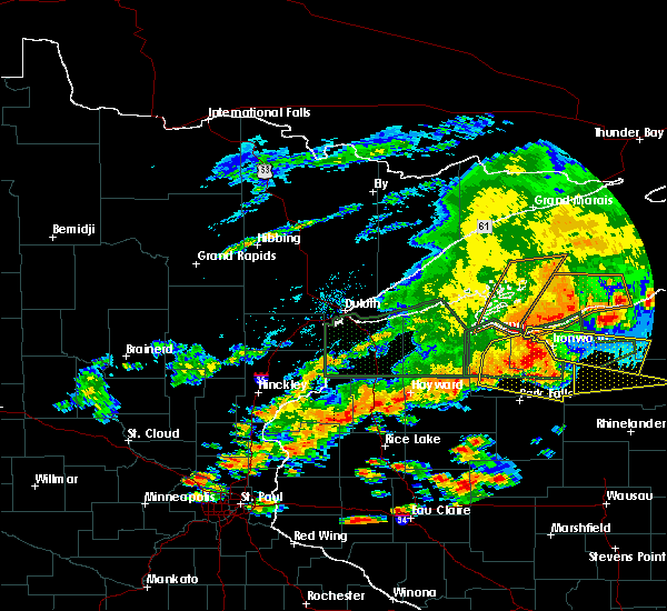 Radar Image for Severe Thunderstorms near Mellen, WI at 6/17/2018 4:47 PM CDT
