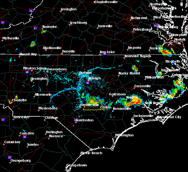 Radar Image for Severe Thunderstorms near Vander, NC at 6/17/2018 5:59 PM EDT