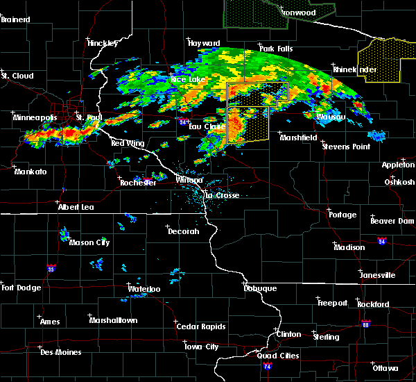 Radar Image for Severe Thunderstorms near Unity, WI at 6/17/2018 7:06 PM CDT