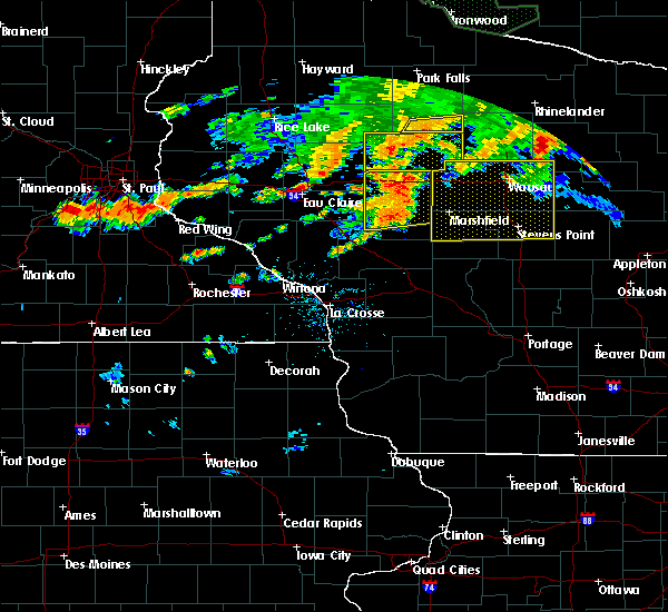 Radar Image for Severe Thunderstorms near Ogema, WI at 6/17/2018 7:20 PM CDT