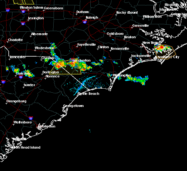 Radar Image for Severe Thunderstorms near Orrum, NC at 6/18/2018 4:59 PM EDT