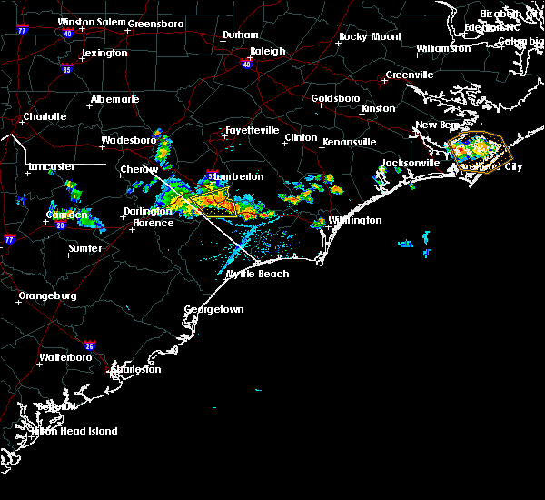 Radar Image for Severe Thunderstorms near Fair Bluff, NC at 6/18/2018 5:34 PM EDT