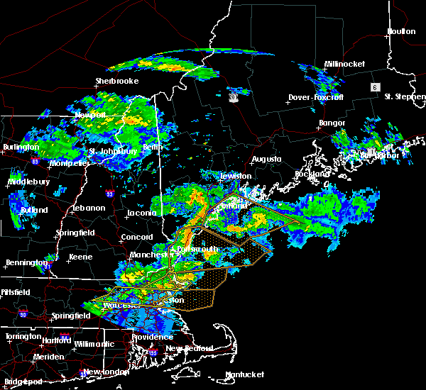 Radar Image for Severe Thunderstorms near West Kennebunk, ME at 6/18/2018 7:09 PM EDT