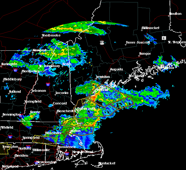 Radar Image for Severe Thunderstorms near West Kennebunk, ME at 6/18/2018 7:24 PM EDT
