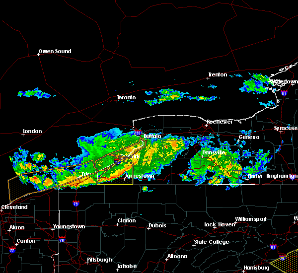 Radar Image for Severe Thunderstorms near Panama, NY at 6/18/2018 7:24 PM EDT