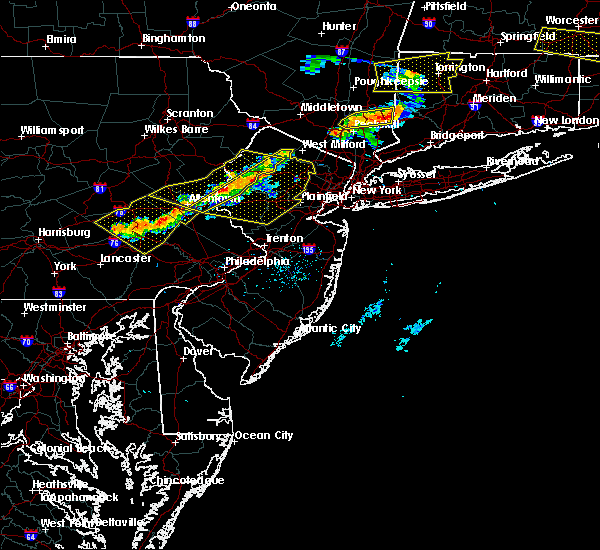 Radar Image for Severe Thunderstorms near Mountain Lake, NJ at 6/18/2018 7:34 PM EDT