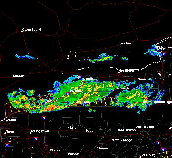 Radar Image for Severe Thunderstorms near Belfast, NY at 6/18/2018 7:47 PM EDT