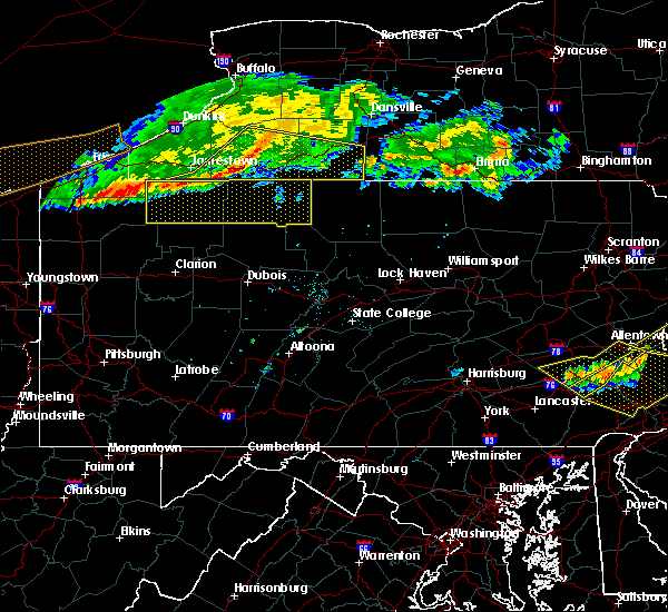 Radar Image for Severe Thunderstorms near Rew, PA at 6/18/2018 7:55 PM EDT