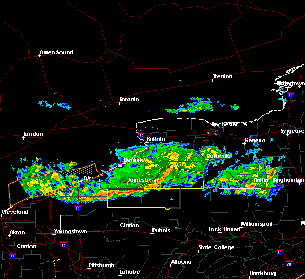 Radar Image for Severe Thunderstorms near Stannards, NY at 6/18/2018 8:04 PM EDT