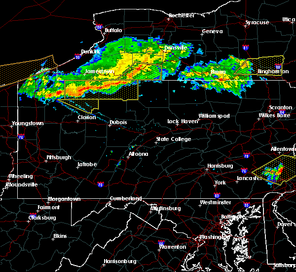 Radar Image for Severe Thunderstorms near Pleasantville, PA at 6/18/2018 8:23 PM EDT