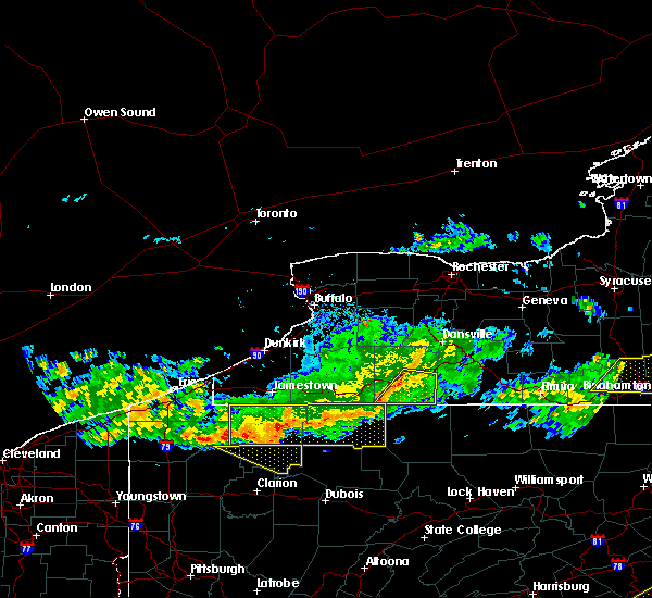 Radar Image for Severe Thunderstorms near Stannards, NY at 6/18/2018 8:33 PM EDT