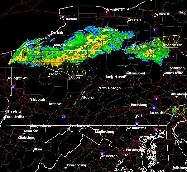Radar Image for Severe Thunderstorms near Johnsonburg, PA at 6/18/2018 8:46 PM EDT