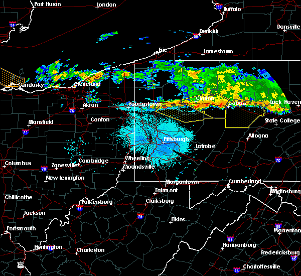 Radar Image for Severe Thunderstorms near Kittanning, PA at 6/18/2018 10:34 PM EDT