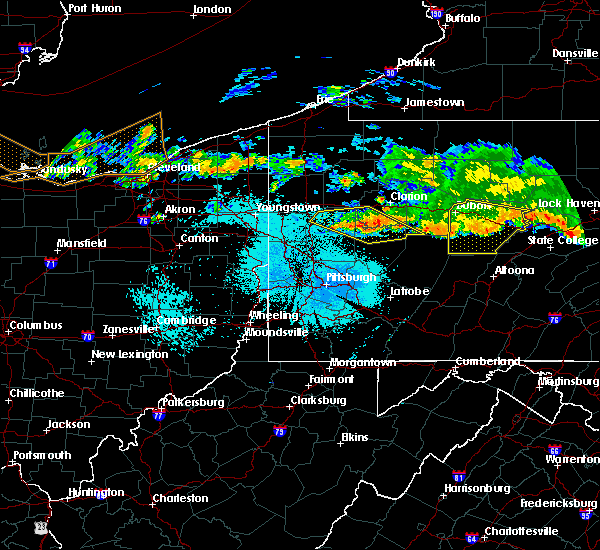 Radar Image for Severe Thunderstorms near Kittanning, PA at 6/18/2018 11:09 PM EDT