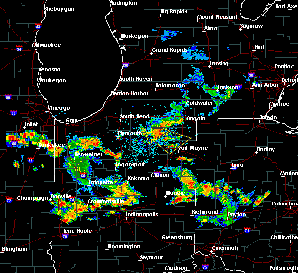 Radar Image for Severe Thunderstorms near Tri-Lakes, IN at 6/19/2018 3:56 PM EDT