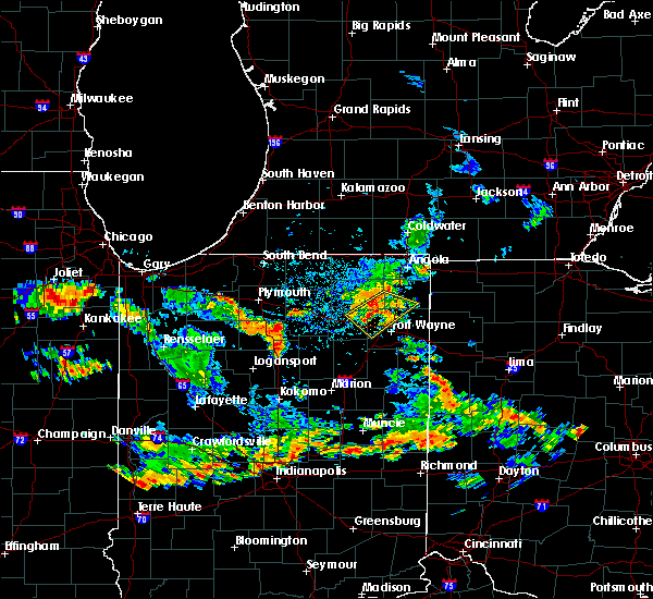Radar Image for Severe Thunderstorms near Tri-Lakes, IN at 6/19/2018 4:27 PM EDT