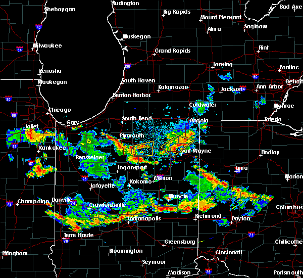 Radar Image for Severe Thunderstorms near Tri-Lakes, IN at 6/19/2018 4:43 PM EDT