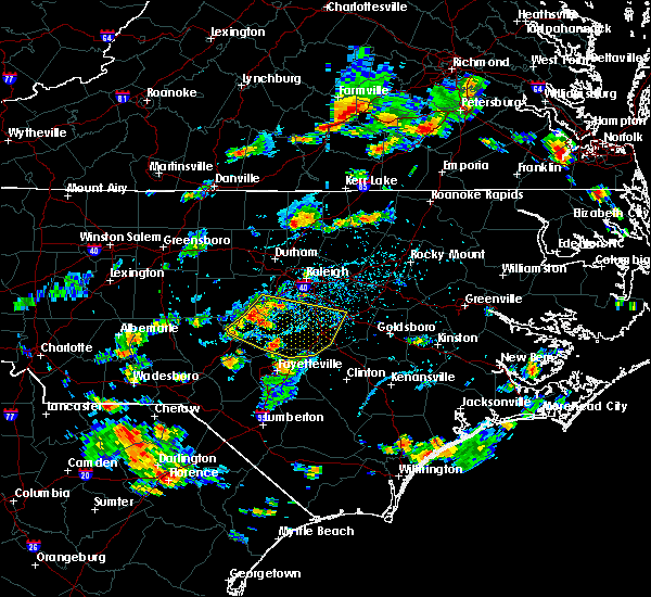 Radar Image for Severe Thunderstorms near Sanford, NC at 6/20/2018 4:41 PM EDT