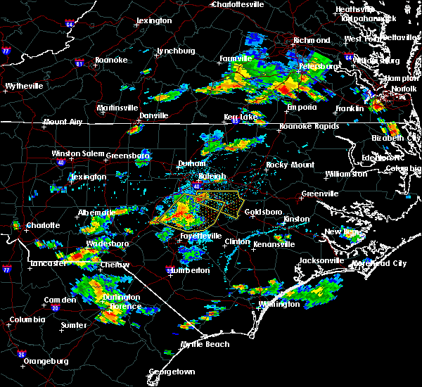 Radar Image for Severe Thunderstorms near Kenly, NC at 6/20/2018 5:09 PM EDT
