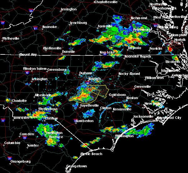 Radar Image for Severe Thunderstorms near Falcon, NC at 6/20/2018 5:22 PM EDT
