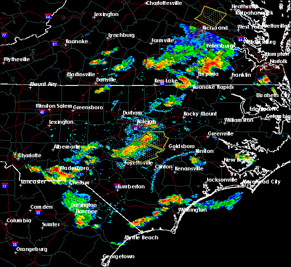 Radar Image for Severe Thunderstorms near Smithfield, NC at 6/20/2018 5:40 PM EDT