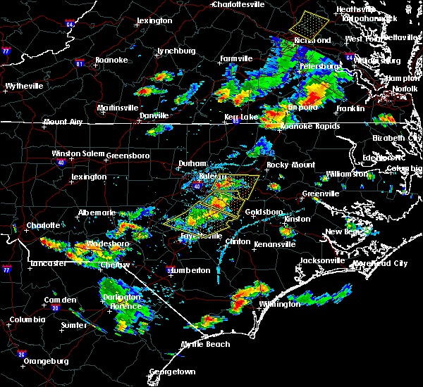 Radar Image for Severe Thunderstorms near Kenly, NC at 6/20/2018 5:56 PM EDT