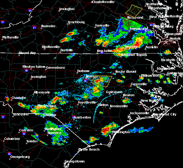 Radar Image for Severe Thunderstorms near Pinehurst, NC at 6/20/2018 6:11 PM EDT