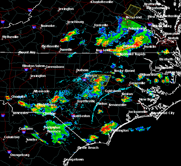 Radar Image for Severe Thunderstorms near Pinetops, NC at 6/20/2018 6:14 PM EDT