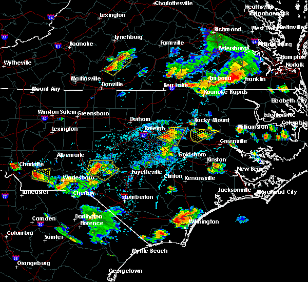 Radar Image for Severe Thunderstorms near Wilson, NC at 6/20/2018 6:23 PM EDT