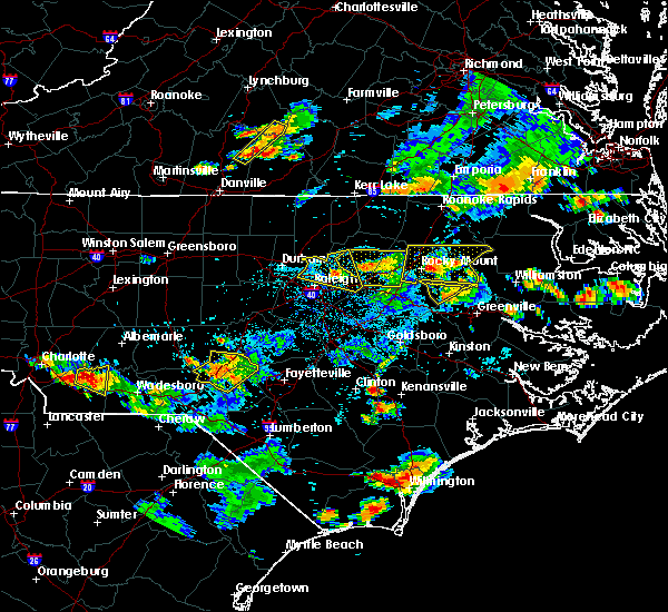 Radar Image for Severe Thunderstorms near Pinetops, NC at 6/20/2018 6:49 PM EDT