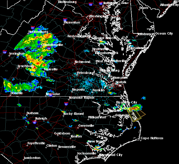 Radar Image for Severe Thunderstorms near Kitty Hawk, NC at 6/21/2018 5:21 PM EDT