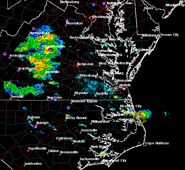 Radar Image for Severe Thunderstorms near Kitty Hawk, NC at 6/21/2018 5:40 PM EDT
