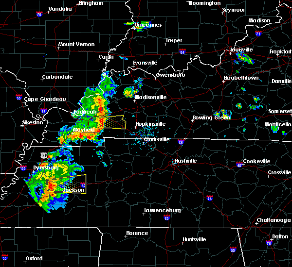 Radar Image for Severe Thunderstorms near Eddyville, KY at 6/21/2018 5:35 PM CDT