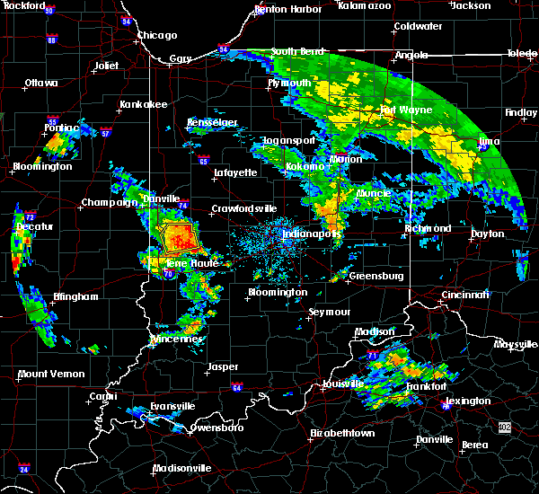 Radar Image for Severe Thunderstorms near Marshall, IN at 6/21/2018 7:11 PM EDT