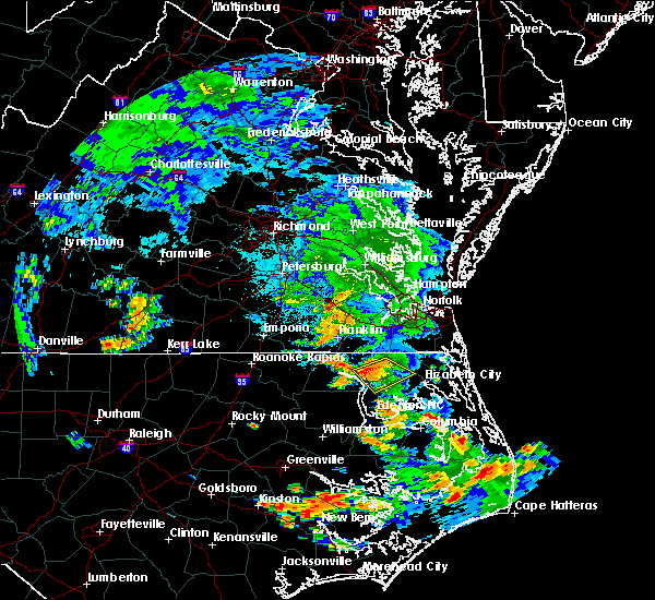 Radar Image for Severe Thunderstorms near Sunbury, NC at 6/21/2018 9:15 PM EDT