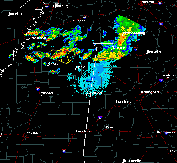 Radar Image for Severe Thunderstorms near Hickory Flat, MS at 6/21/2018 8:43 PM CDT