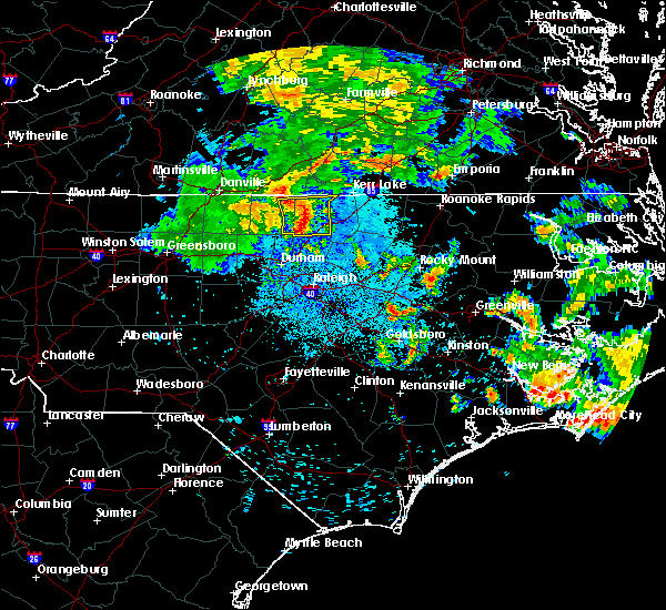 Radar Image for Severe Thunderstorms near Hollister, NC at 6/22/2018 12:13 AM EDT