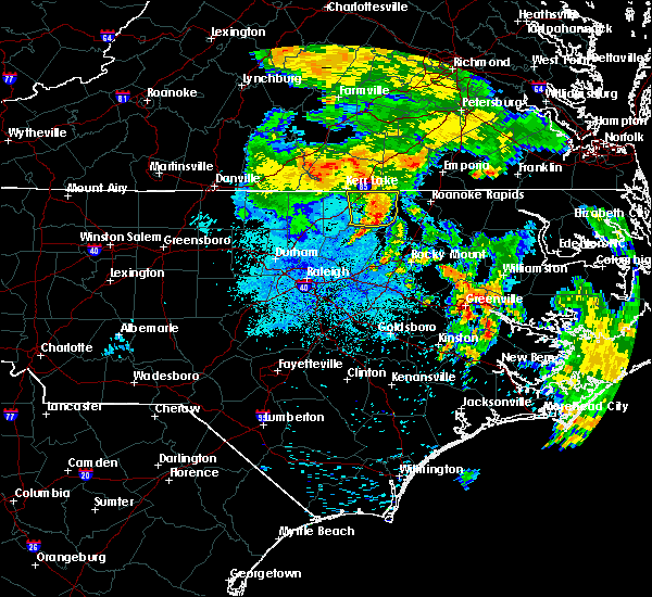Radar Image for Severe Thunderstorms near Warrenton, NC at 6/22/2018 1:29 AM EDT