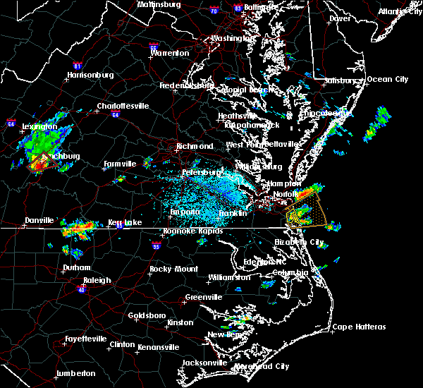 Radar Image for Severe Thunderstorms near Virginia Beach, VA at 6/22/2018 4:06 PM EDT