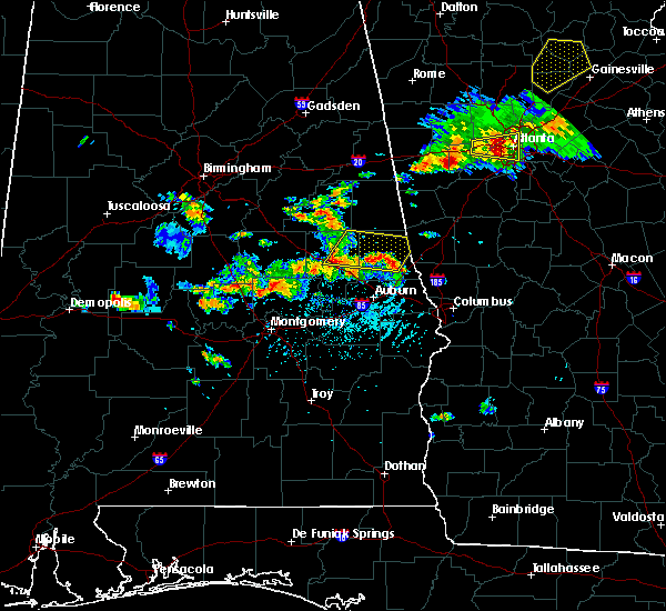 Radar Image for Severe Thunderstorms near Dadeville, AL at 6/22/2018 4:52 PM CDT