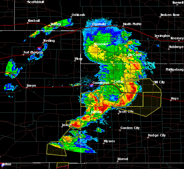 Radar Image for Severe Thunderstorms near Marienthal, KS at 6/22/2018 5:08 PM CDT
