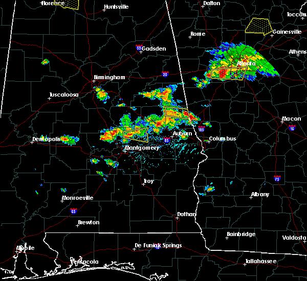 Radar Image for Severe Thunderstorms near La Fayette, AL at 6/22/2018 5:11 PM CDT