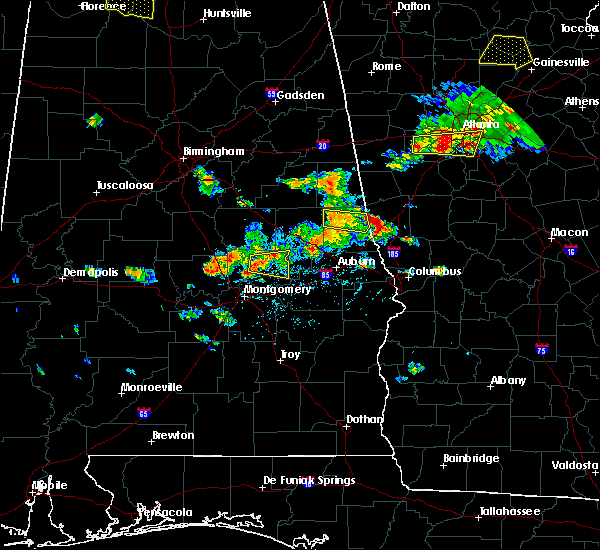 Radar Image for Severe Thunderstorms near Wetumpka, AL at 6/22/2018 5:14 PM CDT