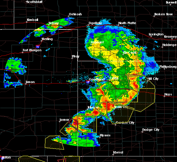 Radar Image for Severe Thunderstorms near Marienthal, KS at 6/22/2018 5:24 PM CDT