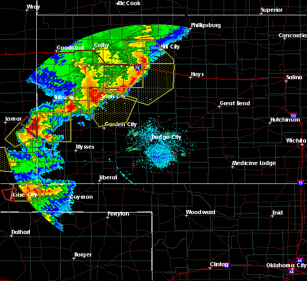 Radar Image for Severe Thunderstorms near Healy, KS at 6/22/2018 5:27 PM CDT
