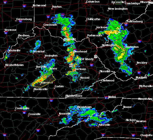 Radar Image for Severe Thunderstorms near Eubank, KY at 6/22/2018 7:31 PM EDT