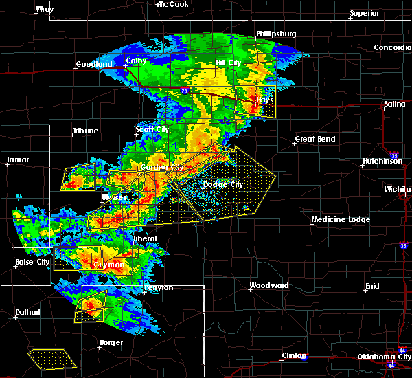 Radar Image for Severe Thunderstorms near Jetmore, KS at 6/22/2018 6:34 PM CDT