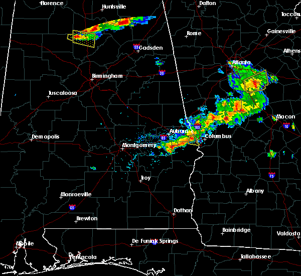 Radar Image for Severe Thunderstorms near Ladonia, AL at 6/22/2018 7:02 PM CDT